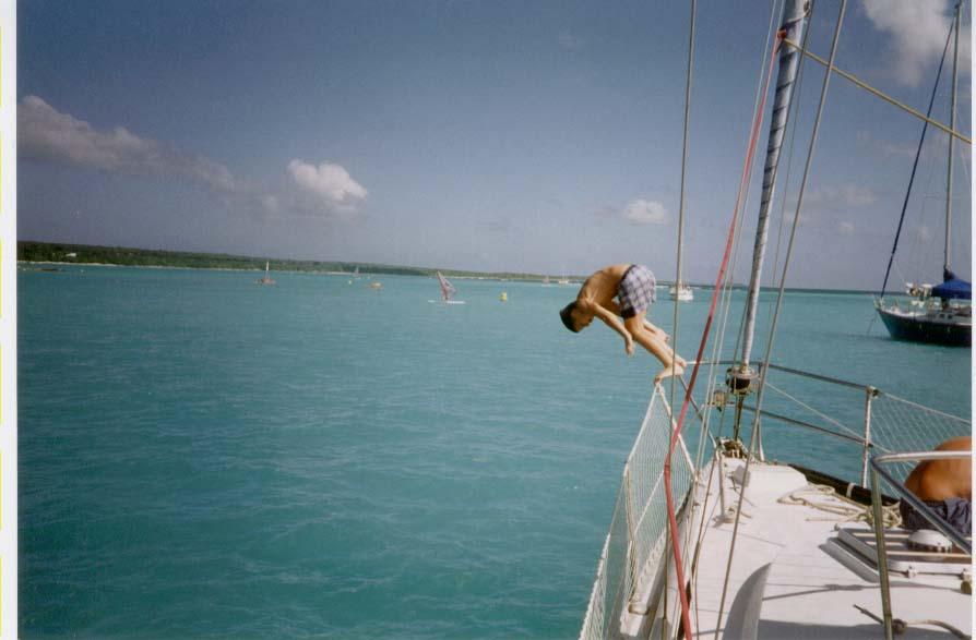 trou arrière bateau